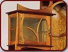 Gustave Serrurier-Bovy  Belgian (1858-1910)  Cabinet-vitrine, 1899  narra and ash with copper and enamel mounts  The Metropolitan Museum of Art, New York, Gift of Mr. and Mrs. Lloyd Macklowe