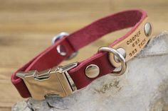 FREE ID TAG Dog collar Clip collar Handmade leather collar Personalized Dog Collars, Handmade Dog Collars, Leather Key Holder, Leather Keychain, Dog Accessories, Leather Accessories, Dog Training Tools, Leather Gifts, Handmade Leather