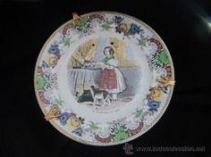 Plato coleccion Creil Et Montereau Medalla de Oro año 1834 especial coleccionistas (Antigüedades - Porcelanas y Cerámicas - Extranjera - Ing...