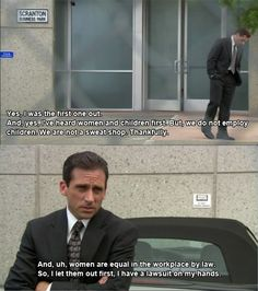 For seven seasons, Michael Scott led The Office proudly, inappropriately and without common sense. Here are 82 reasons why Michael Scott was the World's Best Boss. Office Quotes, Office Memes, Office Tv, The Office Ryan, Tv Quotes, Movie Quotes, Hair Quotes, Dundee, Just For Laughs