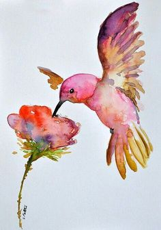 watercolor bird painting bird art original by bMoorearts on Etsy Watercolor Bird, Watercolor Animals, Watercolour Painting, Painting & Drawing, Watercolor Portraits, Watercolor Landscape, Animal Paintings, Animal Drawings, Art Drawings
