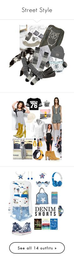 """""""Street Style"""" by alexxa-b ❤ liked on Polyvore featuring WearAll, Boohoo, Hollister Co., Hue, Monsoon, Donald J Pliner, Acne Studios, Wilsons Leather, grunge and knitted"""