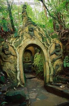 The William Ricketts Sanctuary in the Dandenong Ranges National Park, Australia