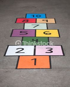Image result for hopscotch on pavement