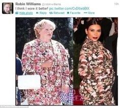 Mrs. Doubtfire for the win! And isn't it awesome that it's actually a guy who makes this dress look better. Lol