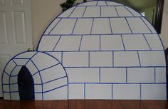 Operation Arctic 6' tall x 10' wide igloo for Mtn. Springs Baptist Church, by Pam Tarlton