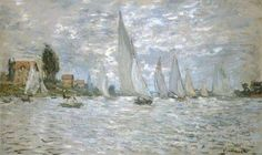 The Boats, Regatta at Argenteuil - Claude Monet 1874. Oil on canvas