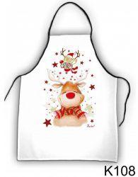 Szakács kötény, Rudolf rénszarvas, karácsony