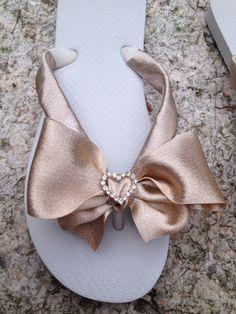 Bridal Flip Flop/Wedges/Sandals for Weddings.Beach by RocktheFlops, $39.00