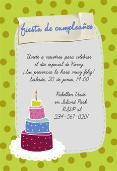 """""""Celebración De Cumpleaños""""  printable invitation template. Customize, add text and photos. Print or download for free!"""