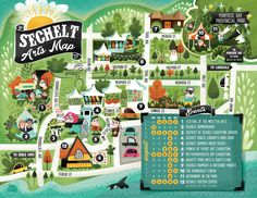 Sechelt map B.C. Canada — Jana Curll Illustration #map #bc #canada