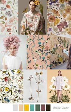 Flowers will still have their place in Weddings, just not necessarily on pedestals, centrepieces and bouquets. Wedding trends 2018 flowers in the air trend ss 2018 Color Patterns, Print Patterns, Pattern Designs, Color Schemes, Color Trends 2018, Floral Illustration, Design Textile, Fashion Forecasting, Motif Floral