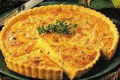 Quiche de cebolla caramelizada Quiches, No Salt Recipes, Cooking Recipes, Pizza And More, Savory Tart, Empanadas, Quiche Lorraine, Vegetarian Lunch, Ayurveda