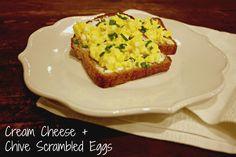 Cream Cheese + Chive Scrambled Eggs - Her Heartland Soul