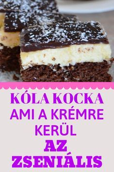 Coca-Cola szelet - akkor is elvarázsol, ha nem szereted a híres üdítőt Coca Cola Cake, Cake Recipes, Dessert Recipes, Creative Desserts, Tasty, Yummy Food, Hungarian Recipes, Winter Food, Cakes And More