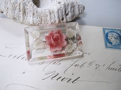 ルーサイトピンクの花 ブローチ |maison irisee