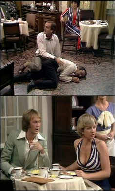 The Wedding Party with Trevor Adams as Alan & April Walker as Jean in Fawlty Towers
