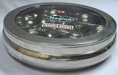 Clear top masala dabba. Would be cool to have - Tikka Marsalla!