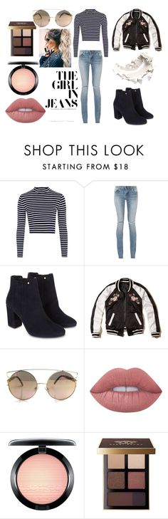 """Basic"" by spudfantastic on Polyvore featuring Topshop, Yves Saint Laurent, Monsoon, Hollister Co., Lime Crime, MAC Cosmetics and Bobbi Brown Cosmetics"