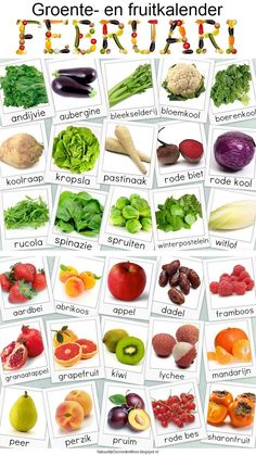 names of vegetables and fruit - in Dutch Groente en fruit