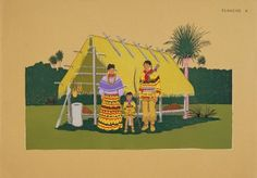 The Seminole Family, Fred Beaver (Creek), painter. Between 1929-1952 C. Szwedzicki produced 6 portfolios of North American Indian art. These works represent original works by 20th Century American Indian artists. For the complete collection see http://digproj.libraries.uc.edu:8180/luna/servlet/univcincin~28~28.