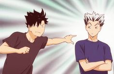 """Kuroo: """"And then make this annoying owl shut up!"""" Bokuto: """"Just try it!"""""""