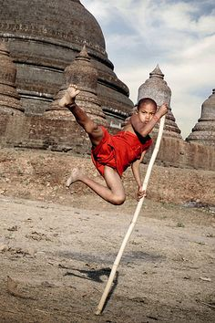 Novice Monk Action Hero . Myanmar