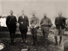 #Mustafa Kemal Atatürk (in black) Enver Pasha (middle) along with some other Ottoman officers during the Italo-Turkish War (1911-1912) [960  720] #history #retro #vintage #dh #HistoryPorn http://ift.tt/2exUFAf