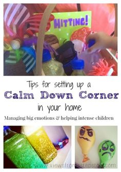 The best alternative to a time-out, a calm down area for preschoolers and toddlers. This is great to use at home or for a calm down corner for preschool. What's in ours, and how you can set one up too! Preschool At Home, Toddler Preschool, Toddler Activities, Sensory Activities, Sensory Kids, Toddler Play, Preschool Ideas, Family Activities, Learning Activities