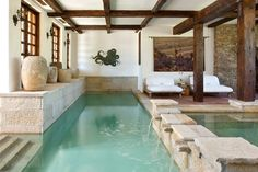 Indoor pool.                                            Pined by : Nelly Camacho - Greene