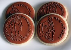 Ancient Greek Coin Cookies - a fun twist for an Olympic-themed party