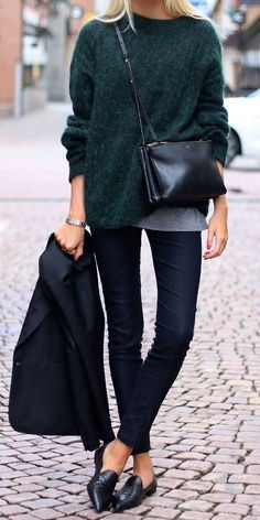 dark green + navy