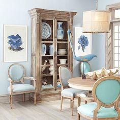Louis XVI End Chair - Aqua