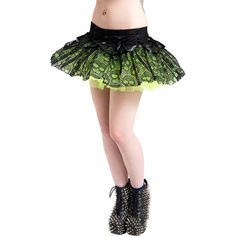 Jawbreaker Skull Tutu (Green) ($12) ❤ liked on Polyvore featuring home, home decor, green home accessories, skull home decor, green home decor and skull home accessories