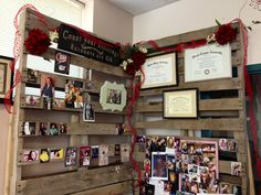 Pallet wall -- my high school classroom :) or even a both for the fair for the ffa chapter info??