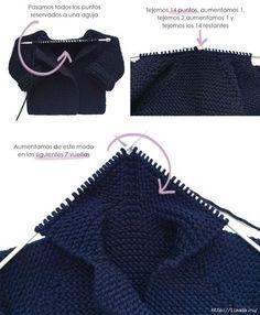 Baby Knitting Patterns, Baby Sweater Knitting Pattern, Knitting For Kids, Easy Knitting, Knitting Stitches, Baby Patterns, Crochet Baby, Knit Crochet, Diy Crafts Knitting