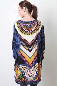 Geometric Tribal Mix Kimono