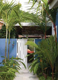 Um jardim na casa de praia - Casa