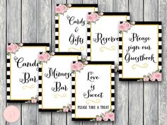 Bridal Shower Table Signs Package Instant Download by BrideandBows #babyshowerideas4u #birthdayparty  #babyshowerdecorations  #bridalshower  #bridalshowerideas #babyshowergames #bridalshowergame  #bridalshowerfavors  #bridalshowercakes  #babyshowerfavors  #babyshowercakes