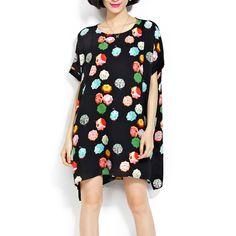 Minikleider - Chiffon Blumensommer-Kurzschluss-Kleid - ein Designerstück von DIYtime bei DaWanda