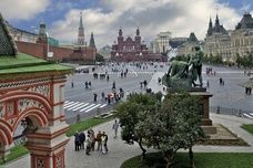 View of Red Square from St. Basil's Cathedral