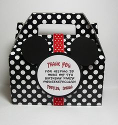 Mickey Mouse Party Favor Box - Set of 10. $18.00, via Etsy.