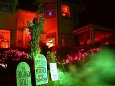 haunted house lighting. Get A Little Spooky With Colored Flood Lights And Fog Machine! Haunted  House Lighting Haunted House Lighting R