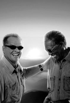 "Jack Nicholson and Morgan Freeman - ""The Bucket List"", 2007. °...Uploaded By www.1stand2ndtimearound.etsy.com"