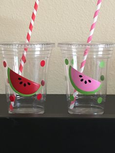 Watermelon party cups by DivineGlitters on Etsy