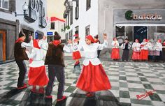 Portuguese Dancers. High quality 13x17 Giclee prints from the portfolio of originals by Barry M. Levy at etsy.com....BarryMLevy.