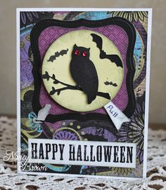 Creatively Artsy Card Gallery: Halloween Yo Yo Card. Club card #1