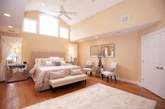 This master suite in Livingston, NJ is bright, plush, and oh so luxurious!