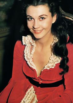 """#RED : """"Via col Vento"""" - Vivien Leigh on the set of Gone With the Wind (1939)"""