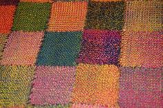 Blanket made from weave-it squares